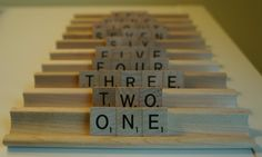 Scrabble(R) Wedding Table Numbers (1 to 10), $29.50