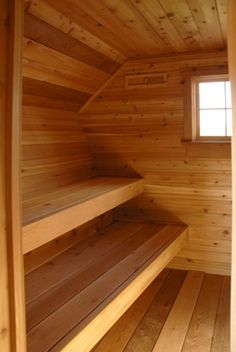 . Sauna Seca, Cabins In Wisconsin, Sauna Steam Room, Tin Shed, Adams Homes, Dry Sauna, Sauna Design, Outdoor Sauna, Rocket Stoves