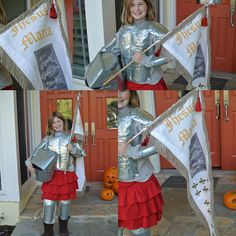 Catholic All Year: Hallowtide . It's How We Roll: All Saints Day Costumes for Awesome Kids Only St. Joan of Arc Joan D Arc, Saint Joan Of Arc, St Joan, Catholic All Year, Catholic Kids, Halloween Treats For Kids, Holidays Halloween, Happy Halloween, Joan Of Arc Costume