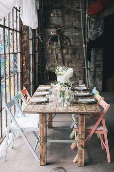 Stühle bunt Hochzeit leihen