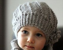 "PDF Knitting Pattern Hat and Cowl Set ""Cool Wool"" (Toddler, Child, Adult sizes)"