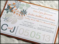Wildflower Bouquet Wedding Invitation Set by by RunkPockDesigns, $2.00