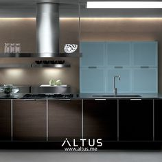 Alutema kitchen system from Euromobil, made in Italy. Luxury Furniture, Furniture Design, Kitchen Furniture, Minimalist, Italy, Interior Design, Home, Design Interiors, Kitchen Units