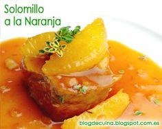 Solomillo en salsa de naranja