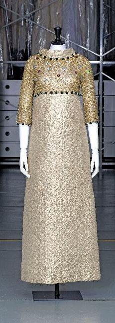 Dress, Yves Saint Laurent, silk taffeta, beads embroidery, 1967, Palais Galliera, musée de la Mode de la Ville de Paris