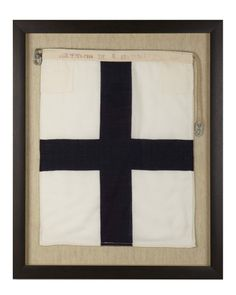 Signal Flag Xray, Stop Your Intention  Williams-Sonoma Nautical Collection