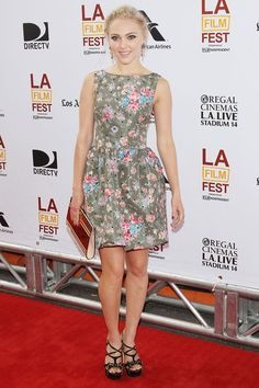AnnaSophia Robb in Red Valentino at The Way, Way Back Los Angeles Film Festival premiere on June 23, 2013