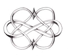 Matching tattoo for me and my best friend, but both hearts are a different color and the infinity sign too.