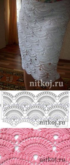 Skirt hook based Giovanna Dias 'thread - knitwear for your home, crochet, knitting, crochet scheme