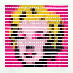 Famosas obras de arte são recriadas com paletas Pantone por Nick Smith. #pantone #psycolourgy