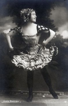 Josie Rooney. Josie performed in a Vaudeville sister act with her sister, Julia, from about 1895 to 1910 - Julia then went solo when Josie eloped with a tightrope walker. Julia had a...