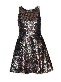 Boutique Milly Sequin Tie Back Prom Dress