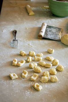 Homemade Gnocchi made with leftover mashed potatoes.