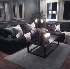59 smart small apartment living room decor ideas on a budget 49 Living Room Decor Cozy, Living Room Grey, Home Living Room, Interior Design Living Room, Living Room Designs, Living Area, Modern Living Room Curtains, Modern Bedroom, Romantic Living Room