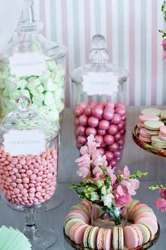 Candy Bar + Macrons from a Teddy Bear Forever Friends Birthday Party