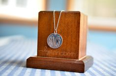 These engraved monogram pendants were a huge hit with my nieces for Christmas. I did some research on different metals and settled on silver plated brass blanks because brass is such a soft ...