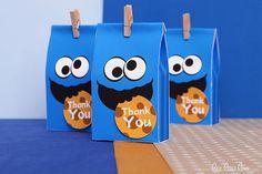 Cookie Street Birthday Party - Favor Tags & Bonus: Favor Box NonPersonalized Printable Design by leelaaloo.com || #diy #party #LeeLaaLoo