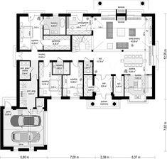 Rzut parteru projektu Rezydencja Parkowa 3 Home Design Floor Plans, Architectural Design House Plans, My House Plans, Construction, Cool Designs, Sweet Home, House Design, How To Plan, Architecture