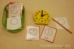 Montessori Clock Exercise