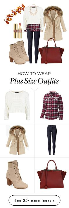 """""""Untitled #1034"""" by rocio-martinez-1 on Polyvore featuring Timberland, Columbia, Yves Saint Laurent, Fendi and Forever 21"""
