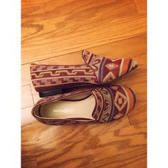 tribal loafers/flats Perfect condition. Incredibly cute. Urban for exposure. Brand Monroe and main Urban Outfitters Shoes Flats & Loafers