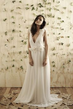 Boho wedding dress lace wedding dress vintage boho beach bride Grace loves lace www.graceloveslace.com