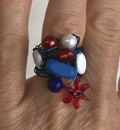 Gemstone Rings, Gemstones, Jewelry, Fashion, Lanyard Necklace, Red White Blue, Happy Name Day, Ring, Moda