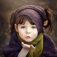 This little angel says to never stop believing in miracles.