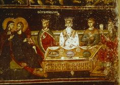 Marriage at Cana, Saint Nicholas Orphanos, 14th century - Google Search
