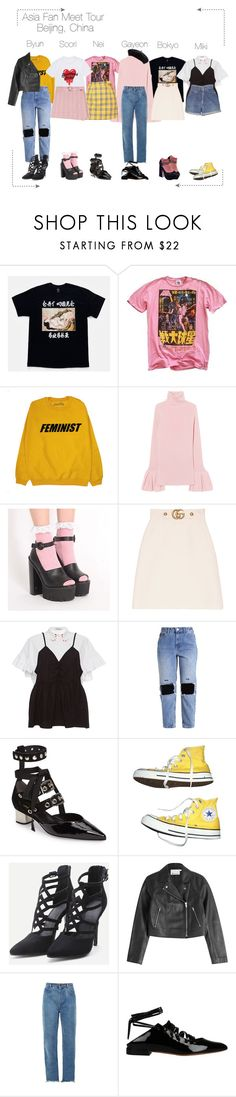 """Lunar (루나) Fan Meet : Beijing"" by lunar-official ❤ liked on Polyvore featuring Junk Food Clothing, Gucci, VIVETTA, Robert Clergerie, Levi's, Converse, T By Alexander Wang, Chloé, Givenchy and lunarfanmeet"