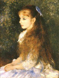 """ピエール・オーギュスト・ルノワールの「イレーヌ・カーン・ダンヴェール嬢の肖像」Pierre Auguste Renoir """"Irene Khan Dan Vale Miss Portrait"""""""