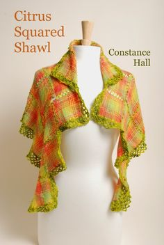 Constance Hall designed this gorgeous Springy shawl last year on the Schacht Zoom Loom. Weave your own Citrus Squared Shawl today!