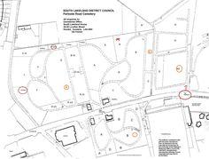 Plan of Kendal Cemetery, Parkside Road ,Kendal.