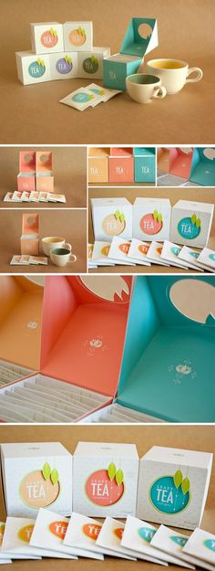 Colorful Leafy Tea Package seeing a real trend of packaging in this color palette -R