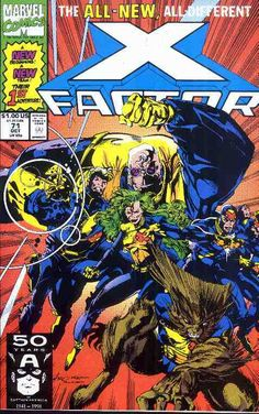X-Factor comic book cover #71 (new team, Larry Stroman art)