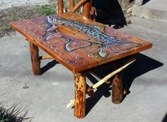 trout coffee table rustic coffee table by robert r norman