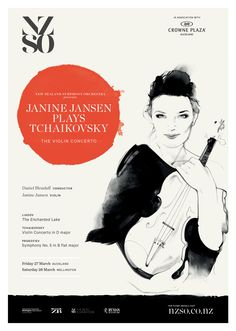 Janine Jansen plays Tchaikovsky. 27 & 28 March 2015. One of the greatest violin concertos ever written, Tchaikovsky's masterpiece takes flight with the NZSO and spellbinding Dutch violinist Janine Jansen, making her New Zealand debut. http://www.nzso.co.nz/concerts/concert/janine-jansen-plays-tchaikovsky/