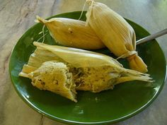 Green Chile Goat Cheese Tamales