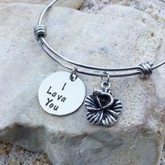 Jewelry  Bangle  Bracelet  Inside Out  I Lava You  by KKandWhimsy