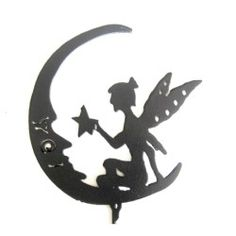 I'm g oing to start using the plasma cutter to make my garden art   ...the twins love tinkerbell so this will go nicely with my celestial decor ;)