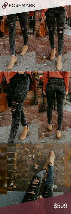 Coming! Stylish Black Distressed Jeans! Trendy and stylish! Distressed denim jeans perfect for the fall and winter seasons! Can be styled countless ways! Perfect to dress up or down! Happy shopping! Glamvault Jeans Skinny