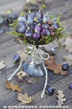 Gypsy Purple home......bulbs in silver compote