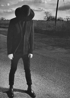 All black everything hat skinny jeans jacket fashion men tumblr Style streetstyle