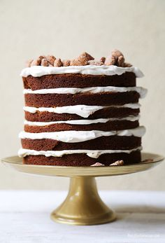 This laid-back stack of gingerbread: | The 33 Cutest Cakes Of 2013