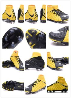 huge discount d0074 4b98e The sole plate of the Yellow Black Nike Hypervenom Phantom III boots  features a more flexible material in the front (Pebax), whereas the rear is  made of a ...