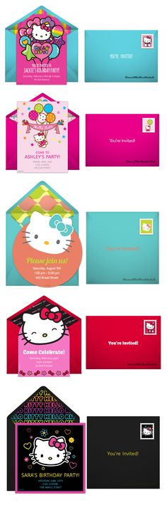 Paper invites are too formal, and emails are too casual. Get it just right with online invitations from Punchbowl. We've got everything you need for your Hello Kitty themed party.  http://www.punchbowl.com/hellokitty/express/?utm_source=Pinterest&utm_medium=2.105P