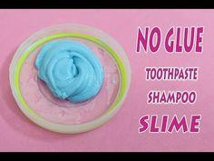 NO GLUE !!! How to Make Shampoo and Toothpaste Slime !  No Glue, No Borax, No Liquid Detergent - YouTube