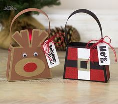 Corri Garza: Adorable Christmas Treat Bags made with my Silhouette