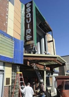 The Esquire Theater in #CapeGirardeau has undergone repairs over the last few weeks —the most visible work anyone has seen on the aging building since renovation plans for the theater fell through last year.