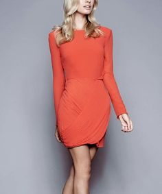 This Coral Azaleas Long-Sleeve Dress is perfect! #zulilyfinds